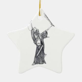 Pest-Mönch-Skizze Keramik Ornament