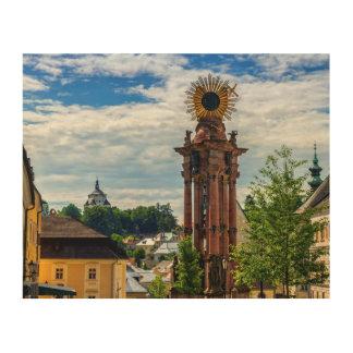 Pestspalte, Banska Stiavnica, Slowakei Holzleinwand