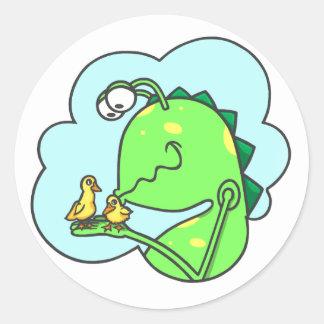 Peter et le monstre de cabinet, baisers de canard sticker rond