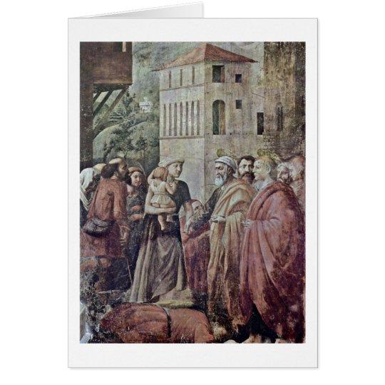 Peter verteilte Almosen auf das Dorf durch Karte
