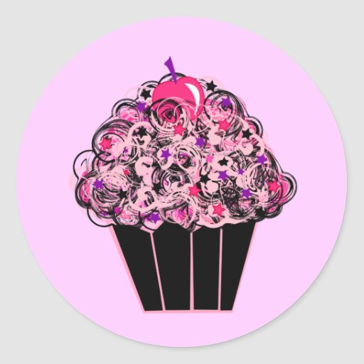 Petit gâteau lunatique adhésif rond