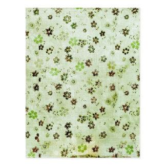Petit papier âgé noir vert en bon état de motif de cartes postales