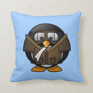 Petit pingouin pilote animated mignon coussin décoratif