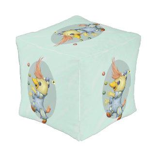 PETIT pouf de cube en BÉBÉ RIUS extérieur