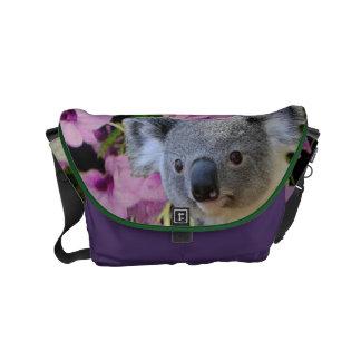 Petit sac messenger à koala sacoche