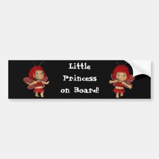 Petit ssticker de pare-chocs de princesse à bord s autocollant de voiture