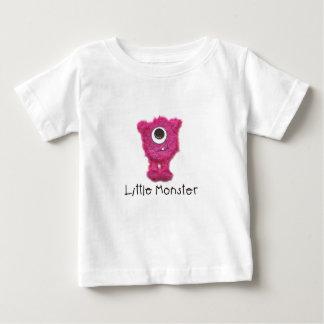 Petit T-shirt énergique rose de monstre