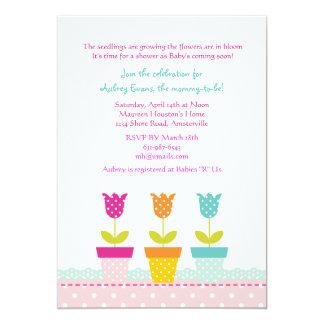 Petite Blumen-Topf-Einladung Karte