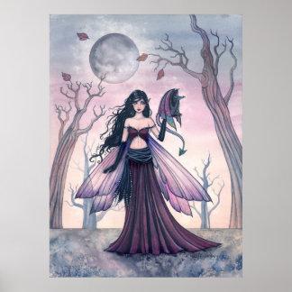 Petite fée de bête avec l'affiche de dragon