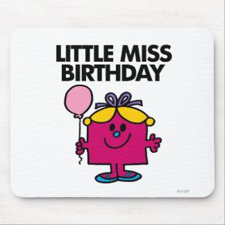 Petite Mlle Birthday With Pink Balloon Tapis De Souris