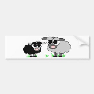 Petits moutons noirs mignons et moutons de BigGray Autocollant De Voiture