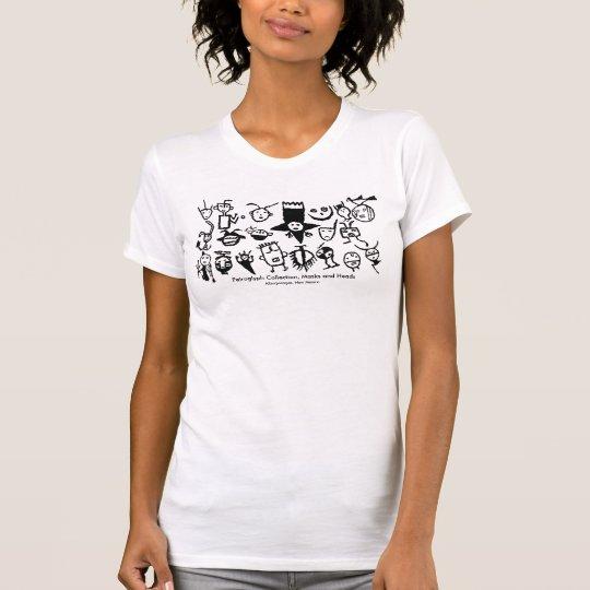Petroglyphe-Sammlung, Masken und Köpfe T-Shirt