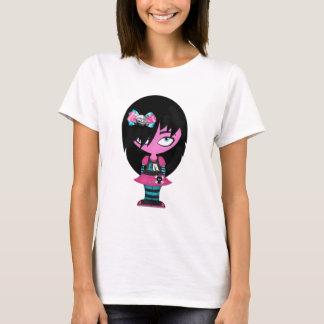 Peu de fille d'Emo T-shirt