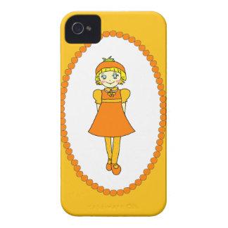 Peu de fille orange de fruit coques iPhone 4