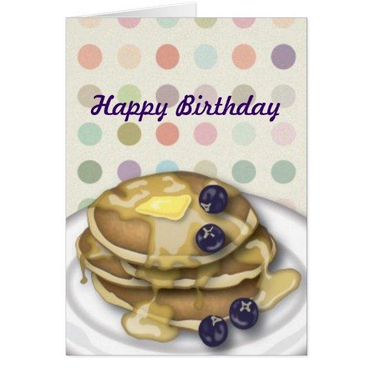 Pfannkuchen-alles- Gute zum GeburtstagTupfen-Karte Karte