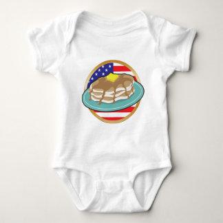 Pfannkuchen-amerikanische Flagge Baby Strampler