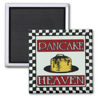 Pfannkuchen-Himmel beunruhigtes Zeichen Vintag Quadratischer Magnet