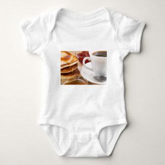 Pfannkuchen mit Honig, Erdbeermarmelade Baby Strampler