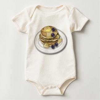 Pfannkuchen mit Sirup und Blaubeeren Baby Strampler