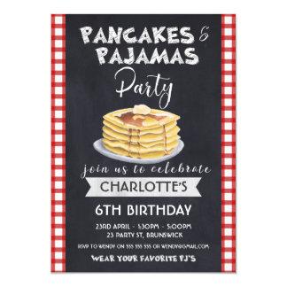 Pfannkuchen-Pyjama-Geburtstags-Party Einladung