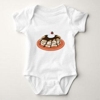 Pfannkuchen-Schokolade Baby Strampler