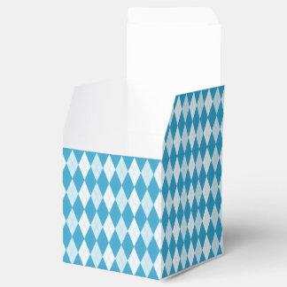 Pfau-Blau-Rauten-kleine Diamant-Form Geschenkkarton