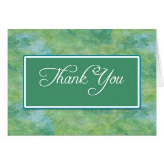 Pfau-Blau-u. Grün-Geschäft danken Ihnen Mitteilungskarte