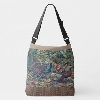 Pfau-Fasan-Vogel-Tier-Tier-Taschen-Tasche Tragetaschen Mit Langen Trägern