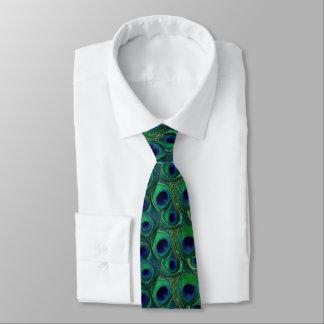 Pfau-Feder-Krawatte - grünes aquamarines Krawatten