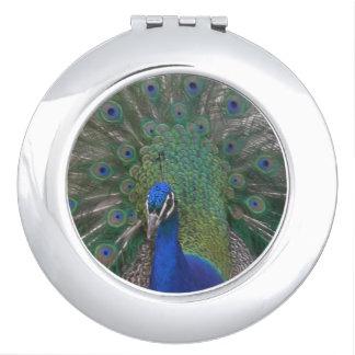 Pfau-kompakter Spiegel Schminkspiegel