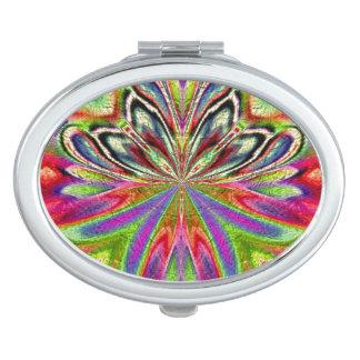 Pfau-kompakter Spiegel Taschenspiegel
