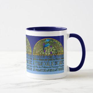 Pfau-Paar-blaue Donau-Tasse Tasse