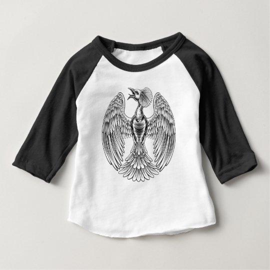 Pfau-Phoenix-Vogelentwurf Baby T-shirt