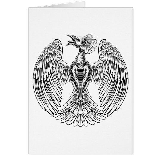 Pfau-Phoenix-Vogelentwurf Grußkarte