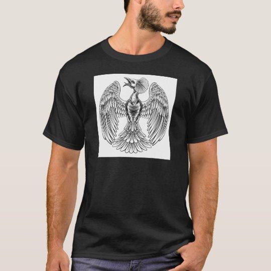Pfau-Phoenix-Vogelentwurf T-Shirt