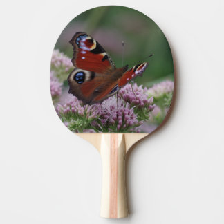 Pfau-Schmetterlings-Klingeln Pong Paddel Tischtennis Schläger