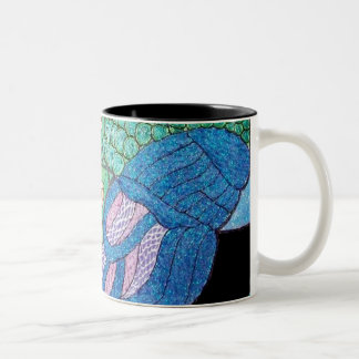 Pfau-Tasse Zweifarbige Tasse