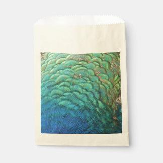 Pfau versieht bunten abstrakten Natur-Entwurf I Geschenktütchen
