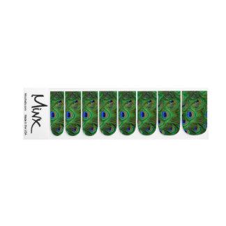 Pfau versieht Minx mit Federn Minx Nagelkunst