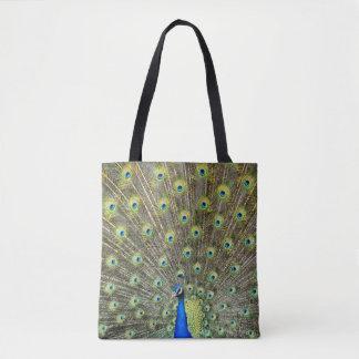 Pfau versieht Taschen-Einkaufstasche des Schwanzes Tasche
