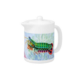 Pfaumantis-Garnele-Teekanne