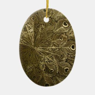 Pfaumetallbehälter Keramik Ornament