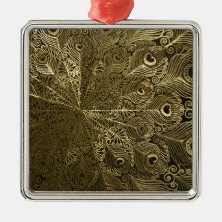 Pfaumetallbehälter Silbernes Ornament