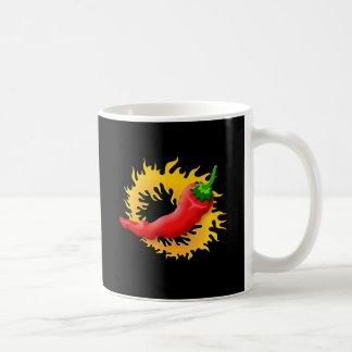 Pfeffer mit Flamme Kaffeetasse