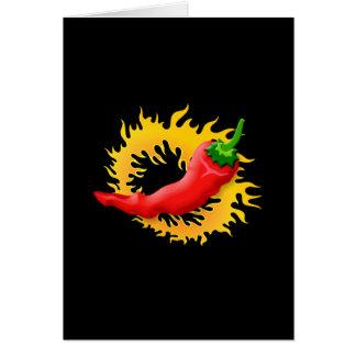 Pfeffer mit Flamme Karte