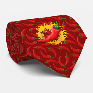 Pfeffer mit Flamme Personalisierte Krawatte