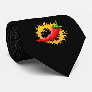 Pfeffer mit Flamme Personalisierte Krawatten