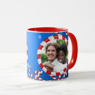 Pfefferminz-Schneeflocken Tasse