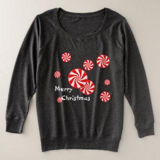 Pfefferminz-Strudel-Weihnachten Große Größe Sweatshirt