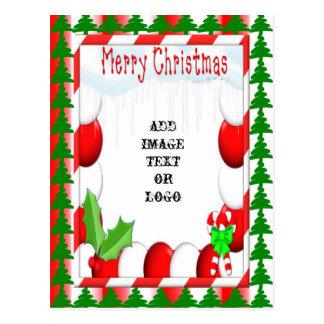 Pfefferminz-WeihnachtsFoto-bereite Postkarte